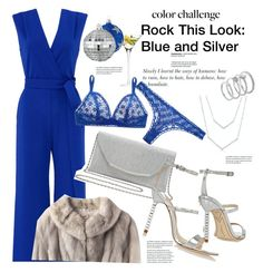 """Rock This Look: Blue and Silver"" by janephoto ❤ liked on Polyvore featuring LSA International, Sophia Webster, YOANA BARASCHI, Vince Camuto, STELLA McCARTNEY, M&Co, CB2 and blueandsilver"