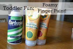 Foamy finger paint