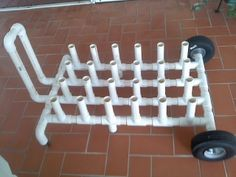24 place PVC rod holder & Cart – The Hull Truth – Boating and Fishing Forum – Garage Organization DIY Fishing Pole Storage, Kayak Storage Rack, Fishing Rod Rack, Fly Fishing Rods, Fishing Tips, Bass Fishing, Ice Fishing, Fishing Cart, Alaska Fishing
