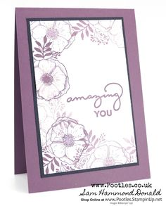 Stampin' Up! #1 Demonstrator Pootles – Happy Mother's Day with Amazing You and Fresh Fig & Glitter!