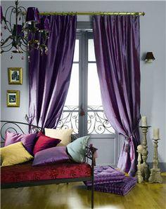 cortinas cortinas de color prpura persianas cortinas hermosas cortinas boho estilo ideas de decoracin del hogar tratamientos de la ventana