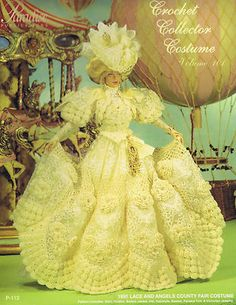 Paradise Crochet Pattern Fashion Doll Costume 1895 Lace and Angels Country Fair