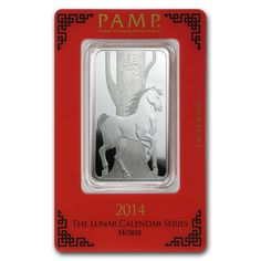 1 oz Pamp Suisse Silver Bar Year of the Horse With Assay Card [PS-1-OZ-SLV-HORSE-BAR]  Aydin Coins & Jewelry, Buy Gold Coins, Silver Coins, Silver Bar, Gold Bullion, Silver Bullion - Aydincoins.com