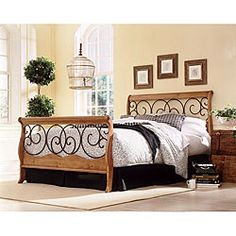 @Overstock - Enhance your home decor with a full-size bed  Bedroom furniture features a perfect blend of metal and wood    Furniture has decorative scrolls adorning both head and foot panels http://www.overstock.com/Home-Garden/Dunhill-Full-size-Bed-and-Frame/3849893/product.html?CID=214117 $601.99