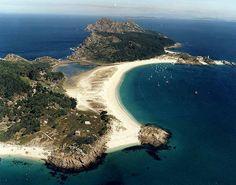 Spain, Galicia, Pontevedra, Cies Islands, Playa de Rodas