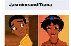 Gender bent Jasmine and Tiana