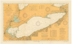 A beautiful, high quality print of the historical map of the Lake Erie from 1913. This map is professionally printed on top of the line digital equipment. It is printed on high quality paper in authen