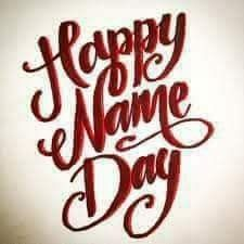 Happy Nameday! Happy Name Day Wishes, Happy Birthday Wishes, Wish Quotes, E Cards, Cool Words, Birthdays, Love You, Happy Names, Emoticon