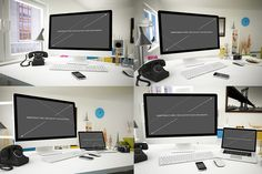 iMac Mockup 7 poses iMac Mockups for your projects. 7 Files - (Jpg and PSD) Easy edit PSD files. Screen replacement - Smartobjects. #mockup #iMac #mockupimac, #mockupsimac #mockups #imacmockups, #imacpsd #imacpsdmockups