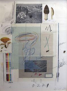 "Edwin Parker ""Cy"" Twombly Jr. (1928-2011) | ""Natural History Part I No. VII, Mushrooms"" | 1974"