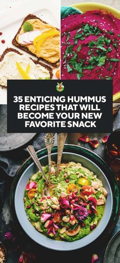 Love hummus? Then you are going to love this selection of hummus recipes! From the basic to exotic Thai flavors, curry and eggplant to other weird and wonderful combinations such as apricot and mushroom. A must-see selection, it will quickly have you tempted to try out a few variations.