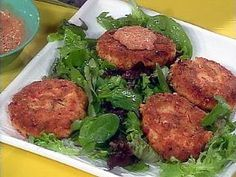 Salmon Cakes - Rachel Ray The ONLY salmon cake I will ever make!! so delicious!
