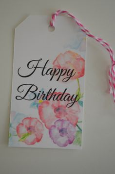 Happy Birthday Gift Tags - The Floral Collection Gift Tags - Set of 12 by HeathersPartySpot on Etsy https://www.etsy.com/listing/473229779/happy-birthday-gift-tags-the-floral