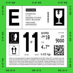 Soulwax are set to release a new album called Essential. Comprised of 12 original tracks, the LP features music from the Belgian band's BBC Radio 1 Essential Mix. Web Design, Label Design, Layout Design, Packaging Design, Design Art, Branding Design, Logo Design, Retro Design, Graphic Design Posters