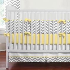 no babies on the horizon, but I do love this baby bedding, especially if you don't know if it will be a boy or girl