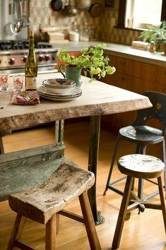 designs holzhocker küche tisch