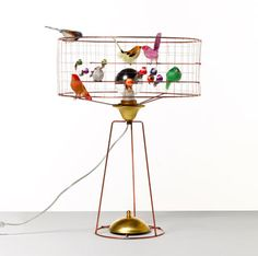 Trend alert birds la volire table lamp by mathieu challires from bird cage voliere tambour bordlampe table lamp aloadofball Image collections