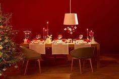 Sapin de noël décorations rouges et dorées - Habitat