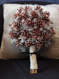 My Pink Plum!: Zimowy bukiet ślubny.