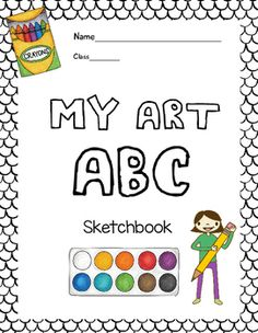 This printable booklet features the ABCs of art class.  This book is perfect for Kindergartners and 1st graders.  The booklet has a cover and 24 pages students can work on independently or as a class.  This would be perfect for substitute lesson plans, centers or as a warm-up in class.