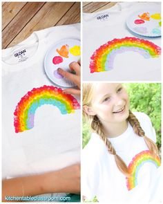 Easy DIY stencils make this custom painted t-shirt easy and fun! Perfect kid's craft for camp or a group art activity! crafts for groups DIY T-Shirt Painting- with Freezer Stencil Paper - The Kitchen Table Classroom Free Stencils, Stencil Diy, Stencil Templates, Stencil Table, Easy Arts And Crafts, Easy Diy Crafts, Paint Shirts, Sharpie T Shirts, Fabric Paint Shirt
