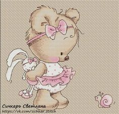 cute teddy bear - cross stitch - chart free pdf here: vk.com/sichkar_stitch