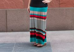 OK, there may be other great ways to make a maxi skirt but I think this is the most flattering and easiest. It doesn't gather too much fabric at your waist or hips and gives you a nice flowy look without weighing you down. I wrote out a quick tutorial to show you how to draft if for your own measurements.