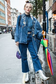 The streets are full of colour as the style set moves on to London for another week of head-turning fashion, both on and off the runways