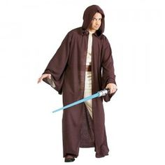 ou'll feel like a real Jedi when you wear the Star Wars Jedi Robe Adult Costume this Halloween. This Jedi Knight robe includes a full-length robe with attached hood.