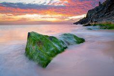 pink sand beach bermuda sunset