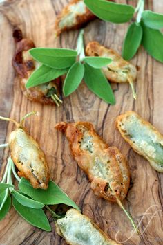 // Anchovy-Stuffed Deep-Fried Sage Leaves