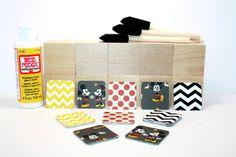 Mickey Mouse  DIY Block Kit  Birthday Party Decor by Booksonblocks
