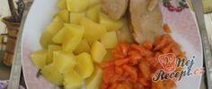 Vepřové s dušenou mrkví Slovak Recipes, Fruit Salad, Pineapple, Cheese, Fruit Salads, Pine Apple