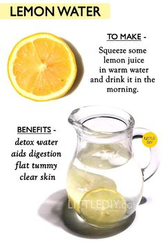 Enlarged pores can make your skin's texture appear rough and uneven. It also make your skin saggy earlier. It is important to maintain your skin elasticity and keep the pores… Lemon Water Benefits, Lemon Health Benefits, Tumeric Benefits, Warm Lemon Water, Drinking Lemon Water, Health Diet, Health And Nutrition, Health Facts, Health Fitness