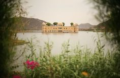 Jaj Mahal, Jaipur, India in Lake Man Sagar - the building has 5 floors but when the water level rises only one can be used