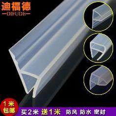 [ $25 OFF ] Glass Door/window Sealing Strip F/ U /h Type Window Waterproof Silicone Strip For Bathroom Shower Room Door Window