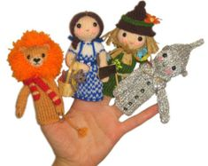 Wizard of Oz Felt Finger Puppets
