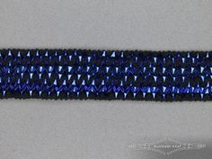 Bling bling band 25mm kobalt blauw