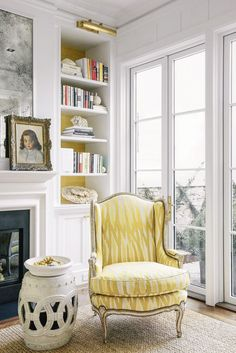 Pop of Color, Pop of Sunshine- the power of yellow brightens the space, lightens the mood