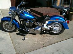 2002 Harley-Davidson FAT BOY Sport Touring , Royal Blue & black, 4,300 miles for sale in salinas, CA