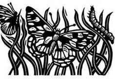 butterfly linocut - Bing Images