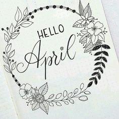bullet journal hello april