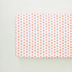 watercolor coral dots fitted changing pad cover // made-to-order
