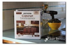 Sugar Bee Crafts: sewing, recipes, crafts, photo tips, and more!: Kitchen Cabinet - Reveal!! (thanks Rustoleum!)