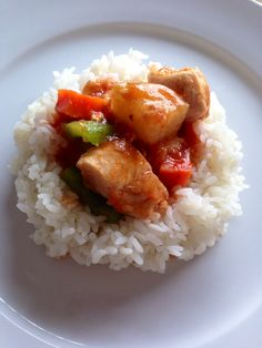 Chicken afritada with rice