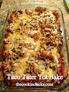 Taco Tator Tot casserole