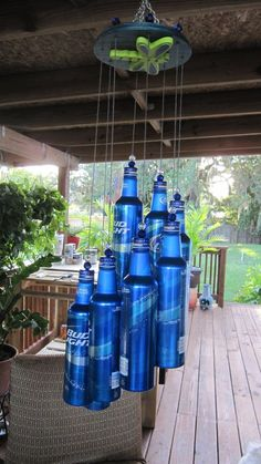 Wind Chime Made From Recycle Aluminum Beer Bottler