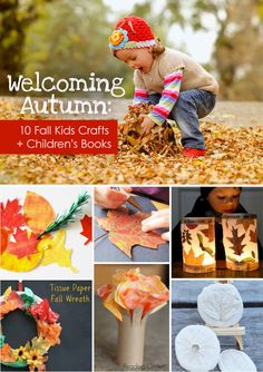 School has started and autumn is right around the corner. Sometimes it is hard to let go of summer and welcome fall. Below are ten fall kids crafts and children
