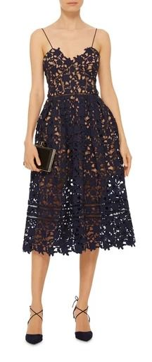 SELF PORTRAIT Azalea Sweetheart Midi Dress