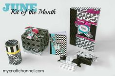 My Craft Channel's June kit of the month featuring Black Ice from Imaginesce! It's super cool and includes an iRock tool!